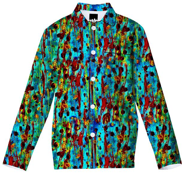 Cool Abstract Painting Pajama Top