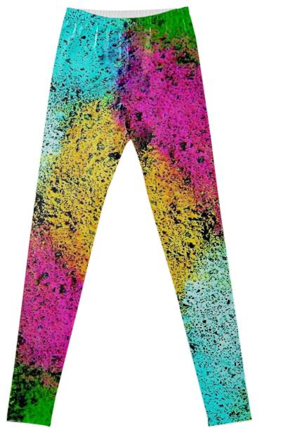 Cool Colorful Abstract Fancy Leggings