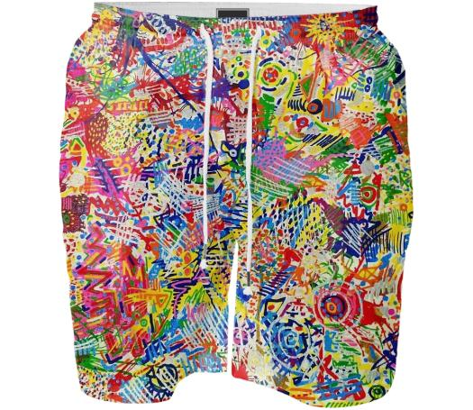 Super Splatter Swim Shorts