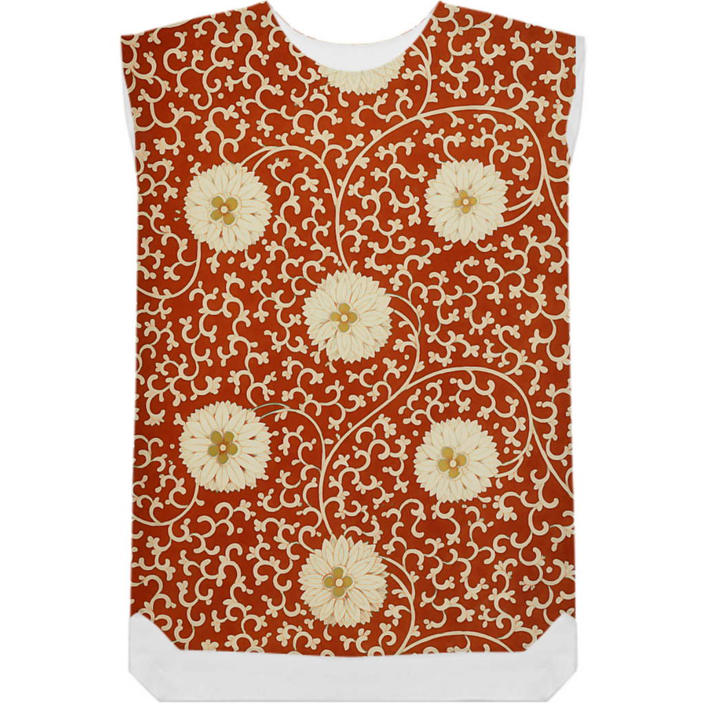Chinese Dahlia pattern in red and cream