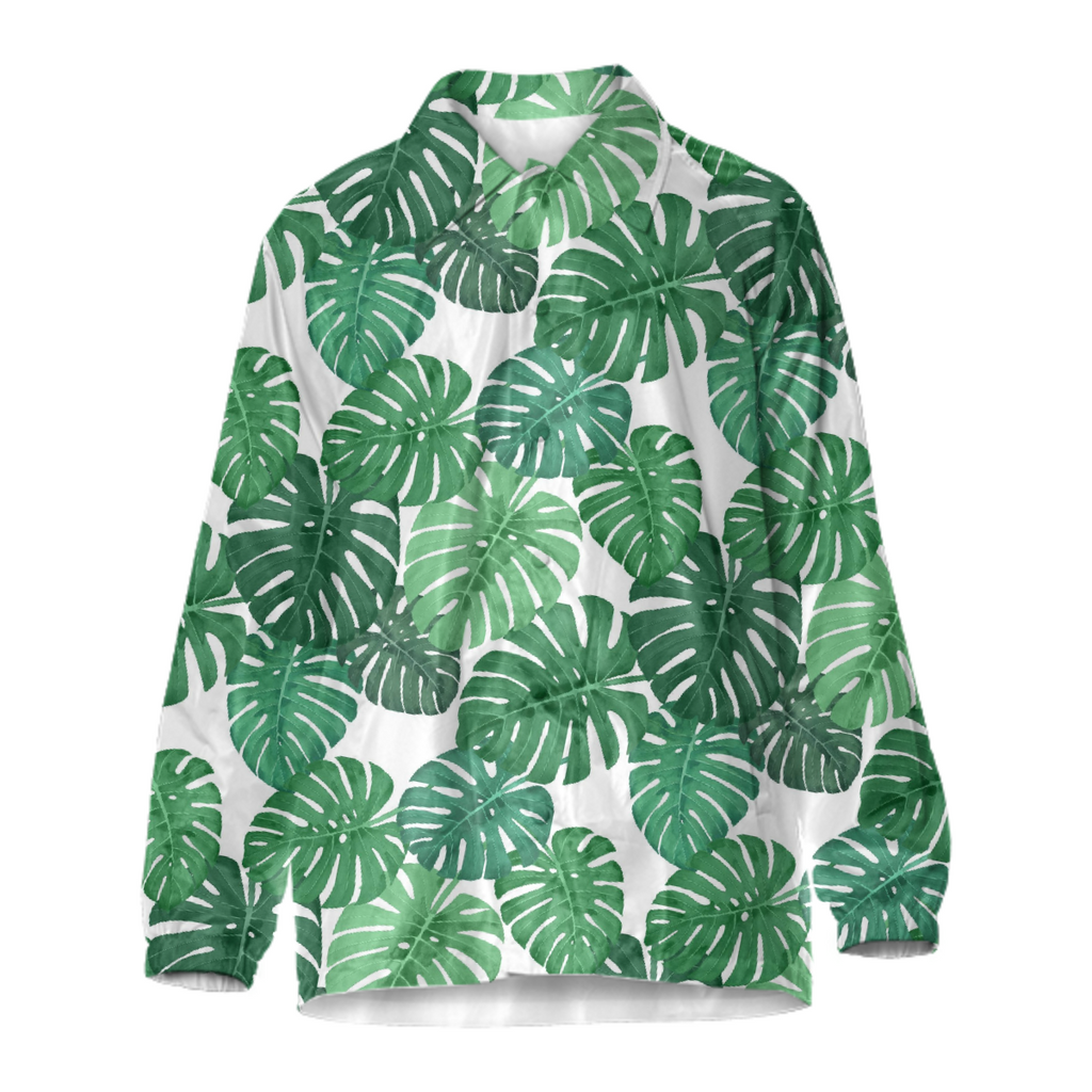 Monstera Jungle Coach Jacket by Frank-Joseph