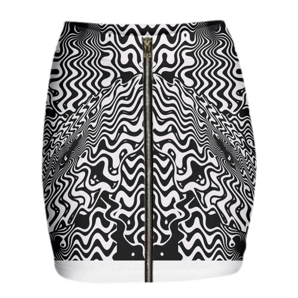 Zebra Dance Mini Skirt