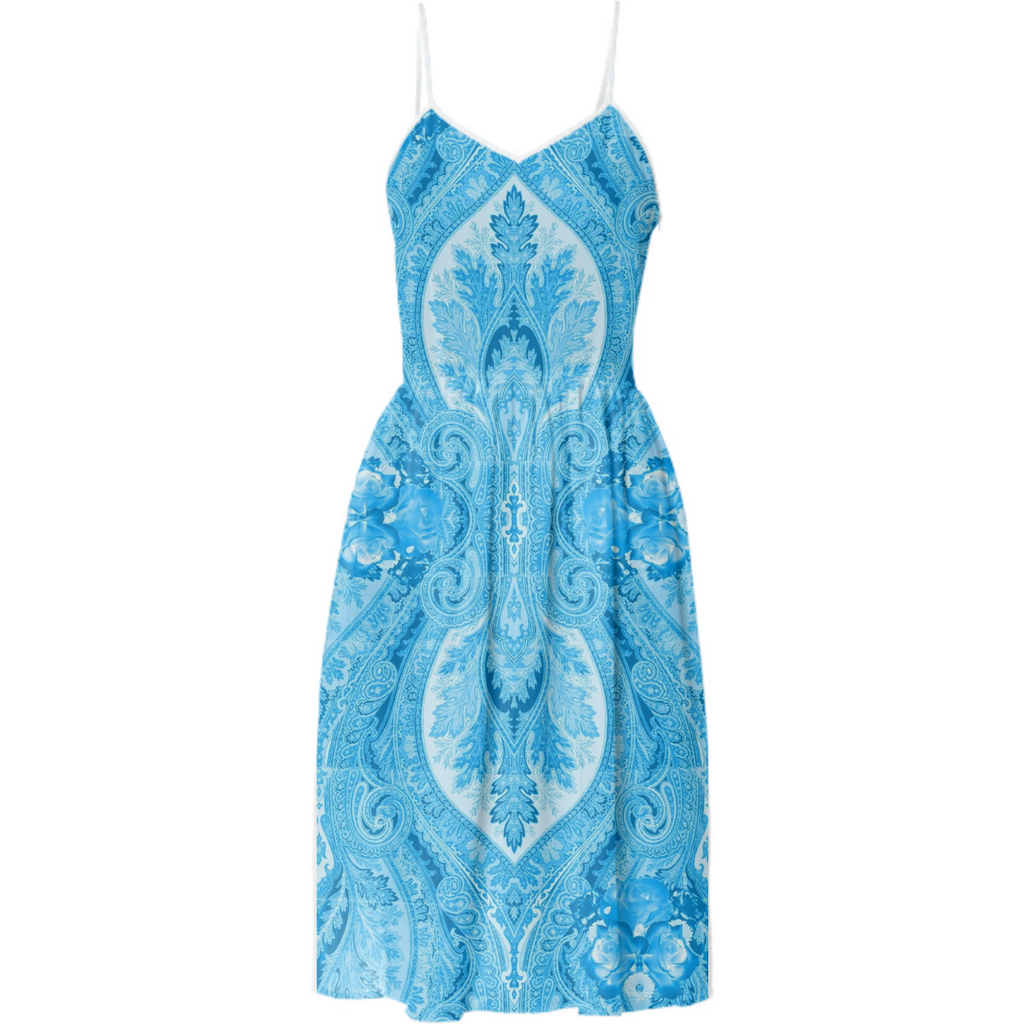 Porcelain Blue Paisley Dress