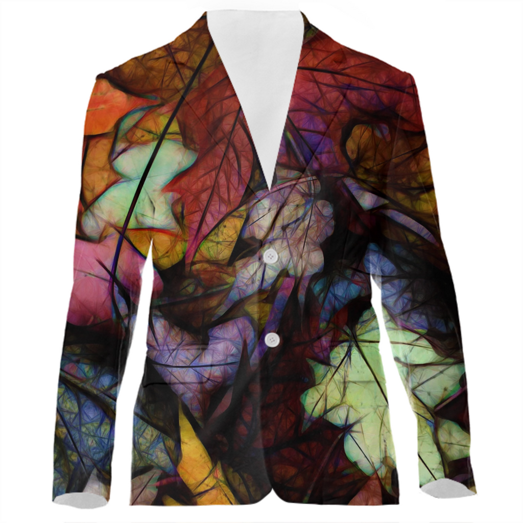 Fall Leaves Abstract VP Suit Jacket
