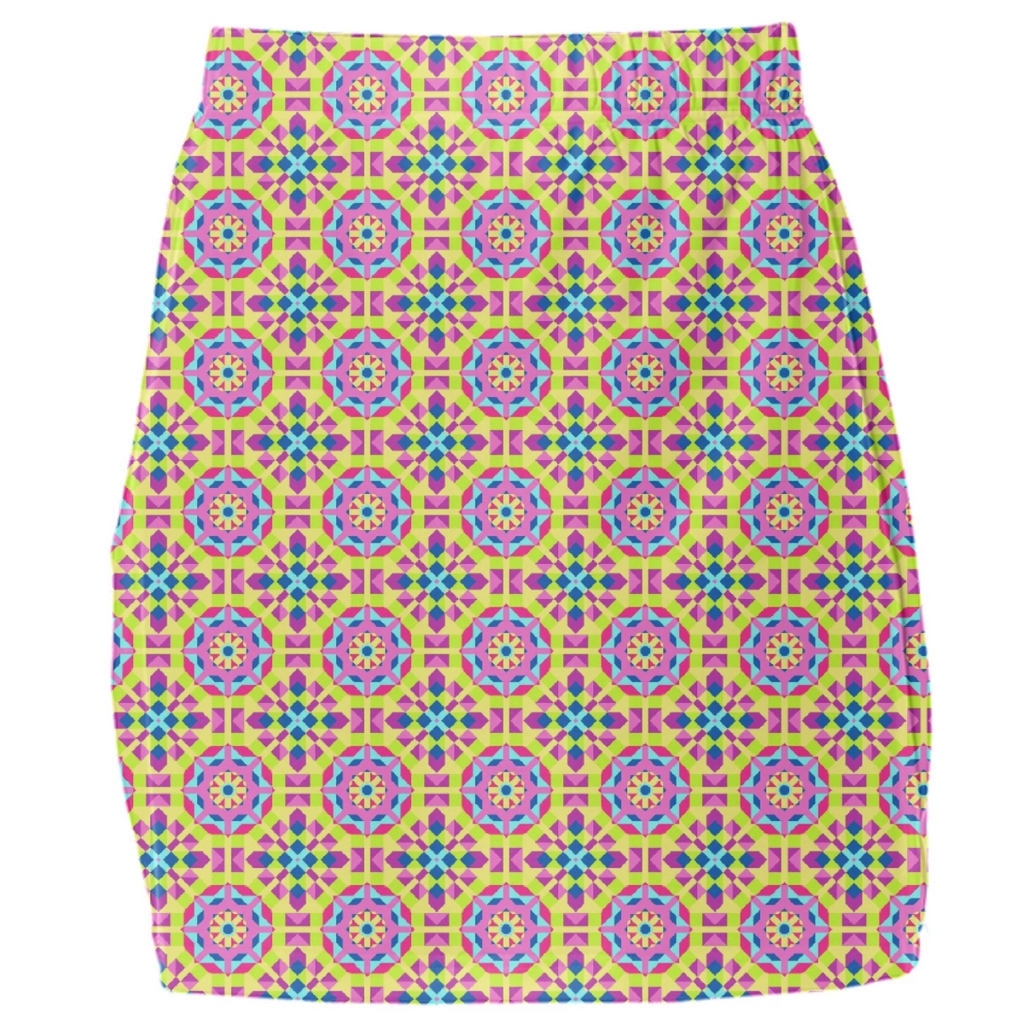 Neon Pattern Mini Tube Skirt #3