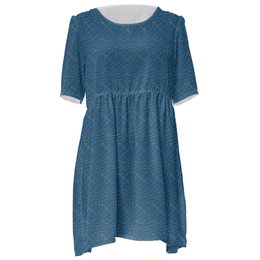 Squiggly Babydoll Dress