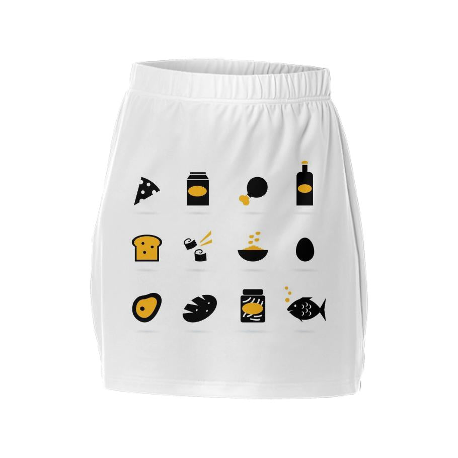 Designers luxury skirt with Black Sushi
