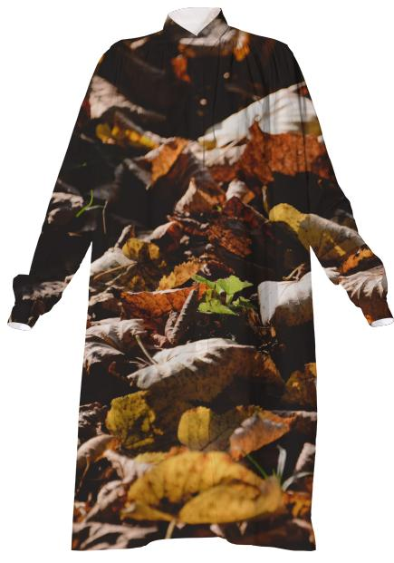 Autumn Leaves VP Shirtdress