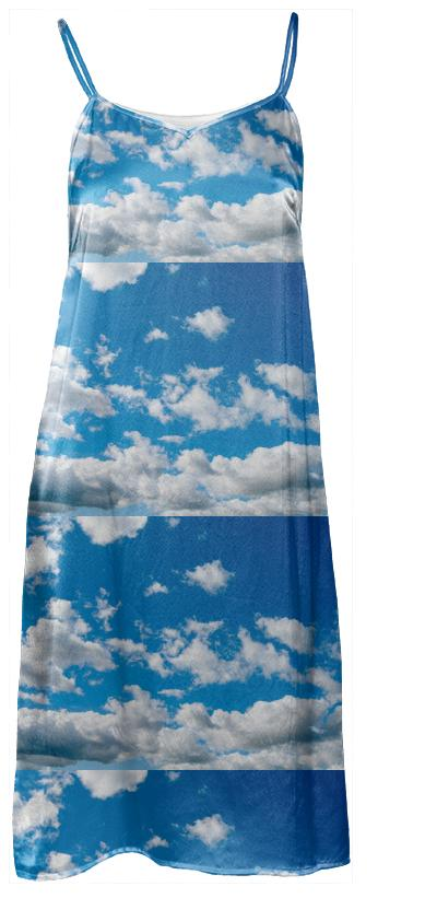 Bright Blue Sky Slip Dress