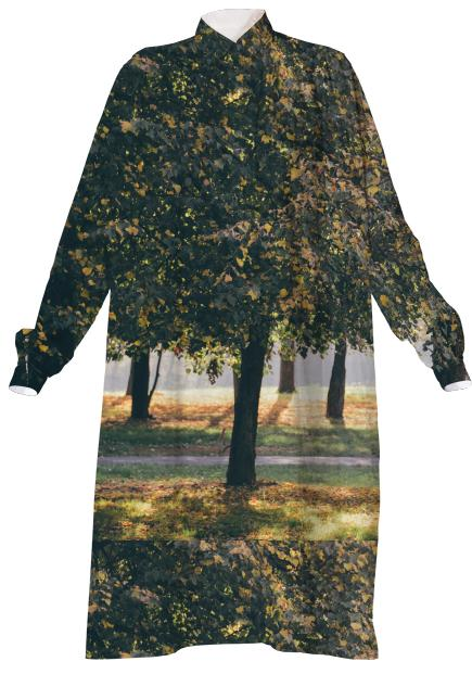 Autumn Trees VP Shirtdress
