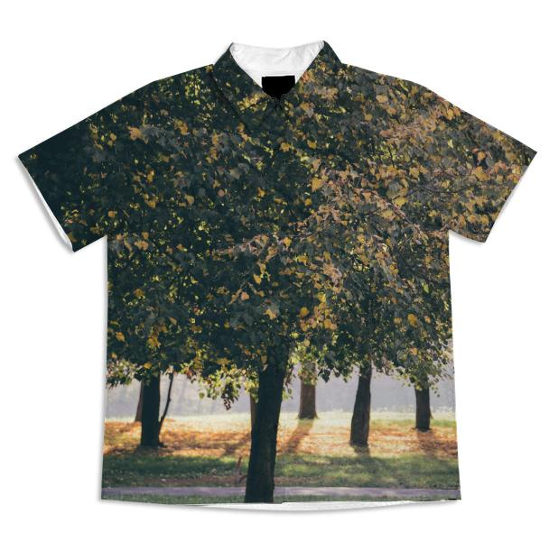Autumn Trees Short Sleeve Blouse