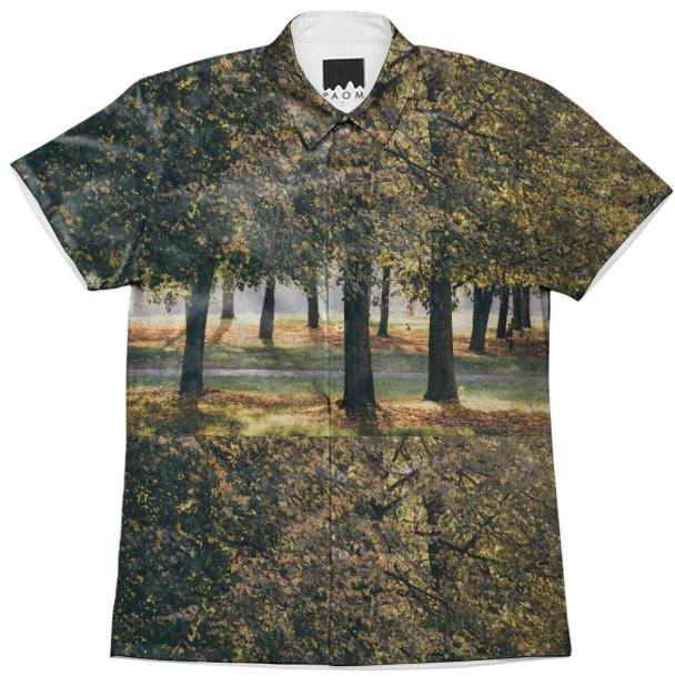 Autumn Trees Short Sleeve Workshirt