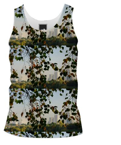Autumn in the city pattern Tank Top Men