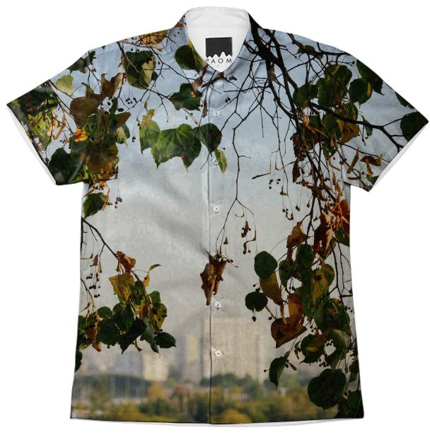 Autumn in the city Short Sleeve Workshirt