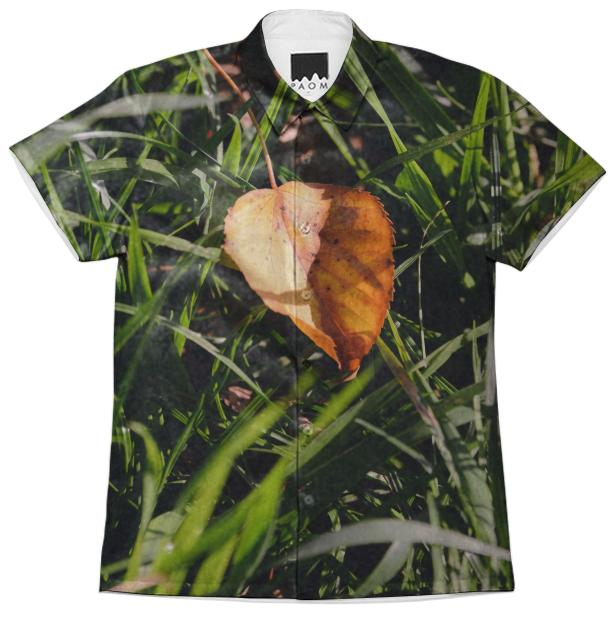 Fall Leaf Short Sleeve Workshirt