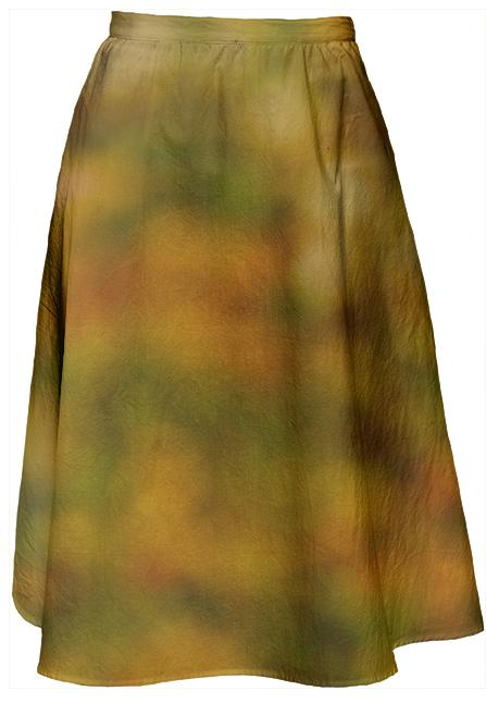Autumn Background Midi Skirt