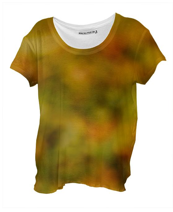 Autumn Background Drape Shirt
