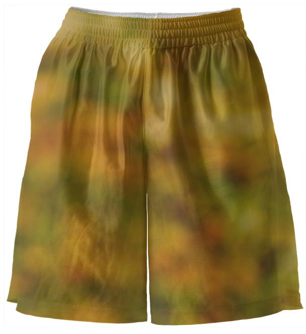 Autumn Background Basketball Shorts