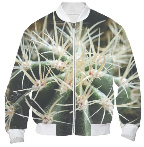 Cactus Close Up Bomber Jacket