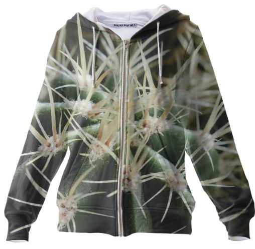 Cactus Close Up Zip Up Hoodie