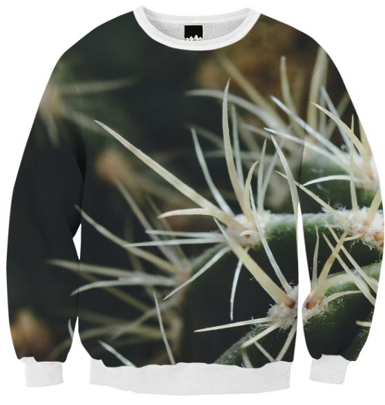 Cactus Close Up Ribbed Sweatshirt