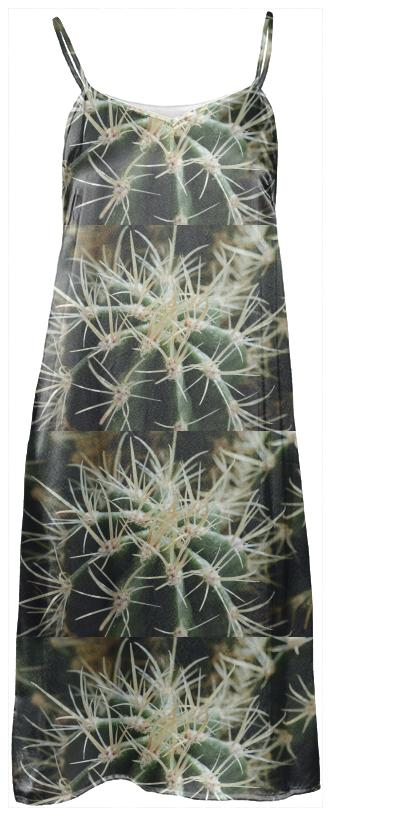 Cactus Close Up Slip Dress