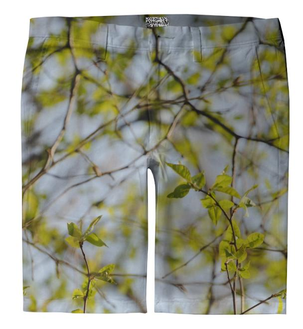 Spring Pattern Trouser Shorts