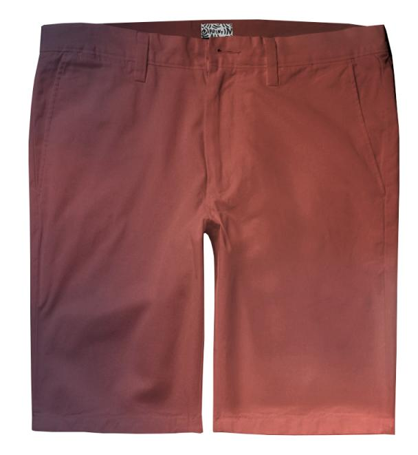 Red Gradient Trouser Shorts