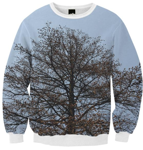 Tree Ribbed Sweatshirt