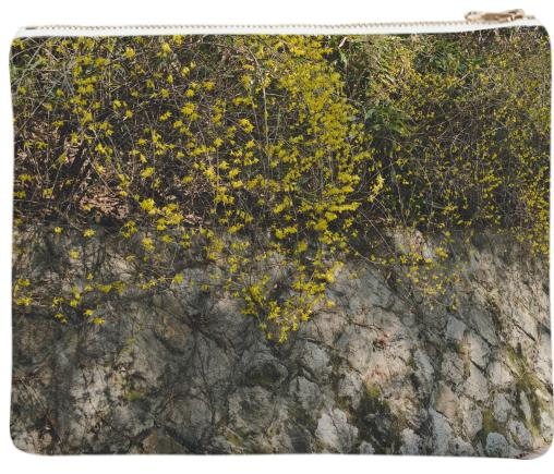 Forsythia Wall Neoprene Clutch