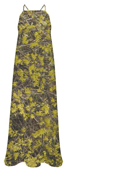 Forsythia Chiffon Maxi Dress