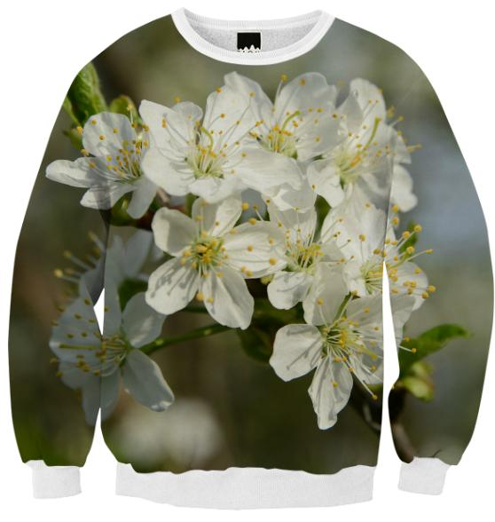 Spring Flowers Ribbed Sweatshirt