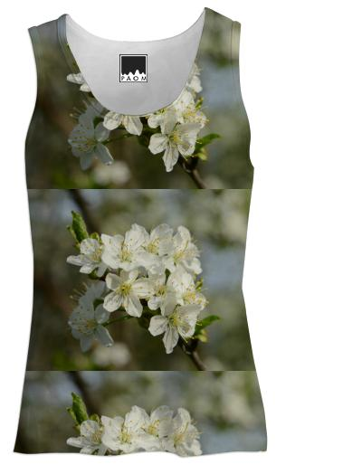 Spring Flowers Pattern Tank Top Women