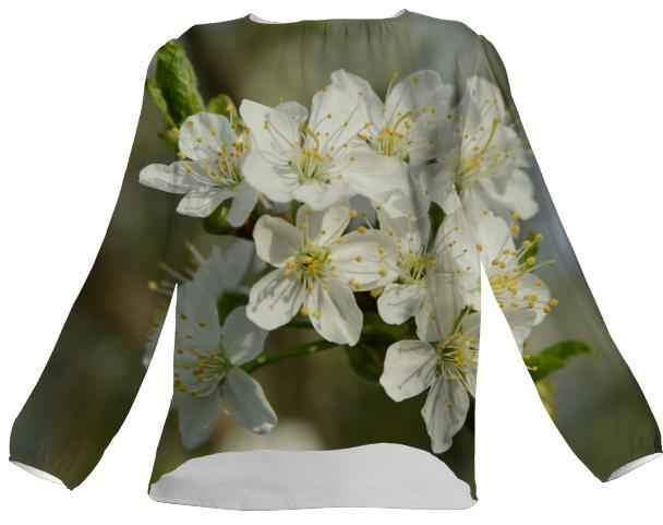 Spring Flowers VP Silk Top