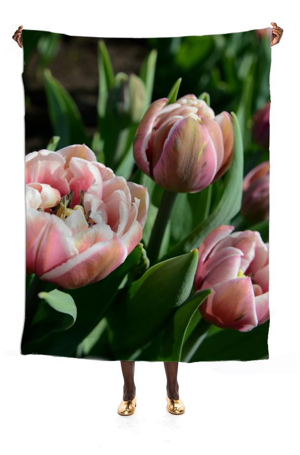 Tulips VP Silk Scarf