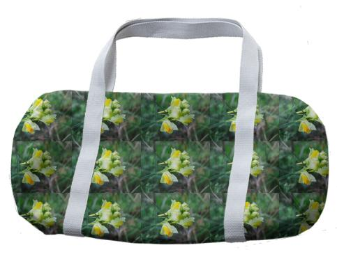 Linaria Flower Pattern Duffle Bag