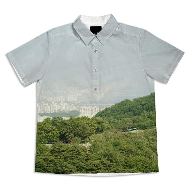 Seoul View Short Sleeve Blouse