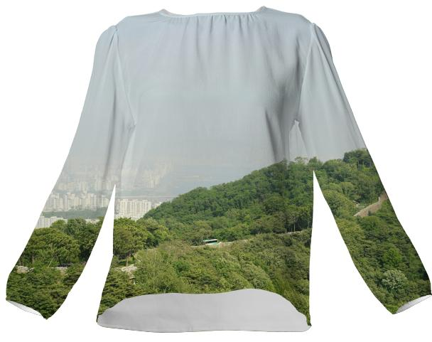 Seoul View VP Silk Top