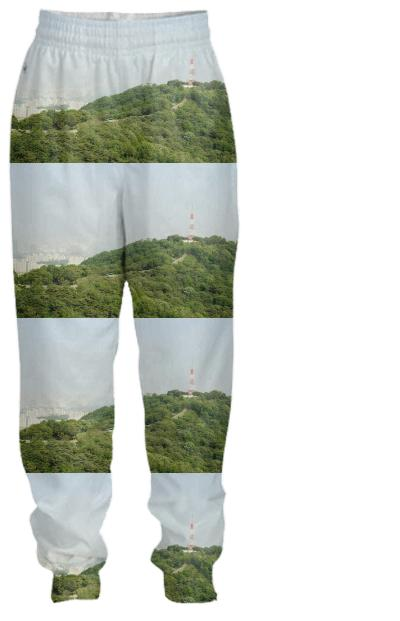 Seoul View Pattern Tracksuit Pant