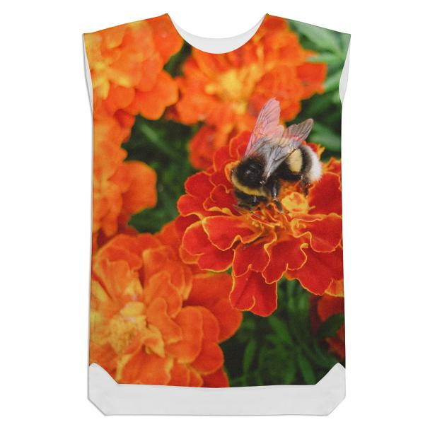 Bumblebee on Marigold Shift Dress