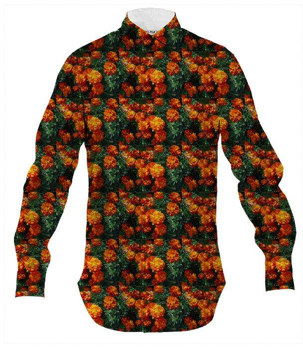 Tagetes Pattern Men s Button Down