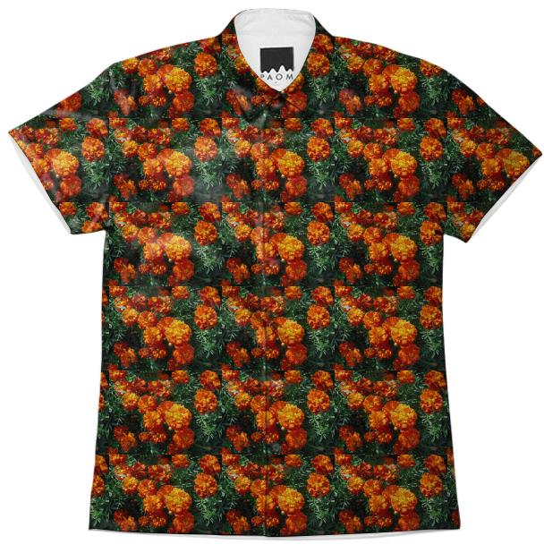 Tagetes Pattern Short Sleeve Workshirt