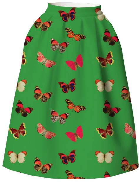Green butterfly VP Neoprene Full Skirt