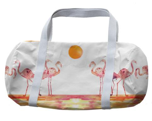 The Wading Flamingos Duffle Bag
