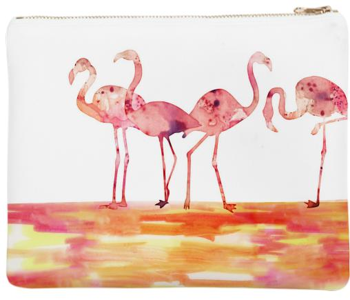 The Wading Flamingos Neoprene Clutch