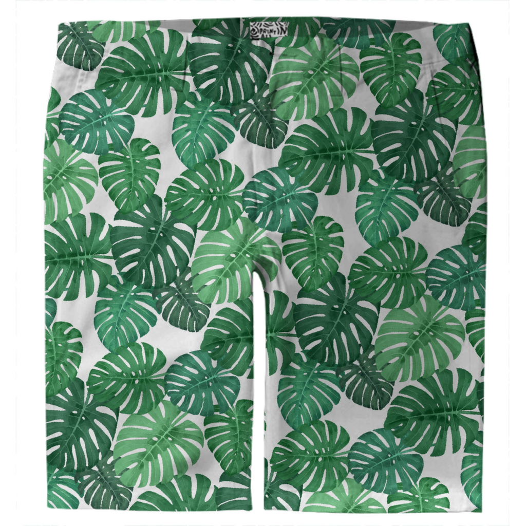 Monstera Jungle Trouser Shorts by Frank-Joseph