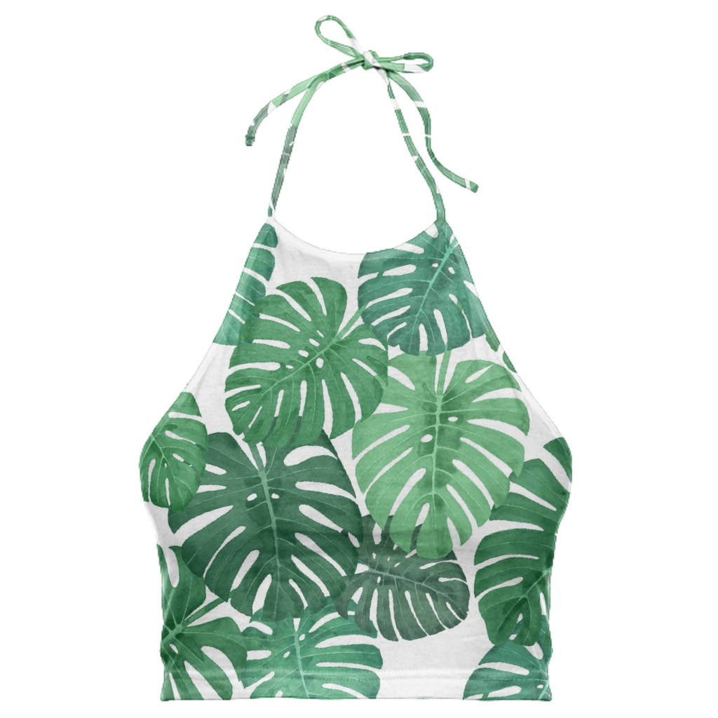 Monstera Jungle Halter Top by Frank-Joseph