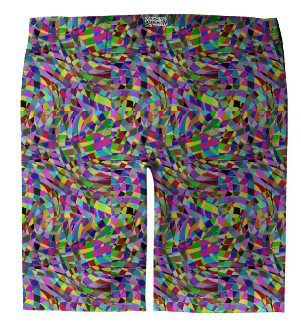 Color Swirl Shorts
