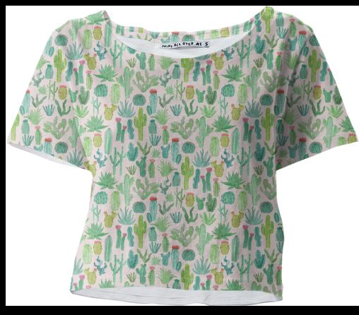 PAOM, Print All Over Me, digital print, design, fashion, style, collaboration, abeeabb, Crop Tee, Crop-Tee, CropTee, Cactus, spring summer, unisex, Poly, Tops