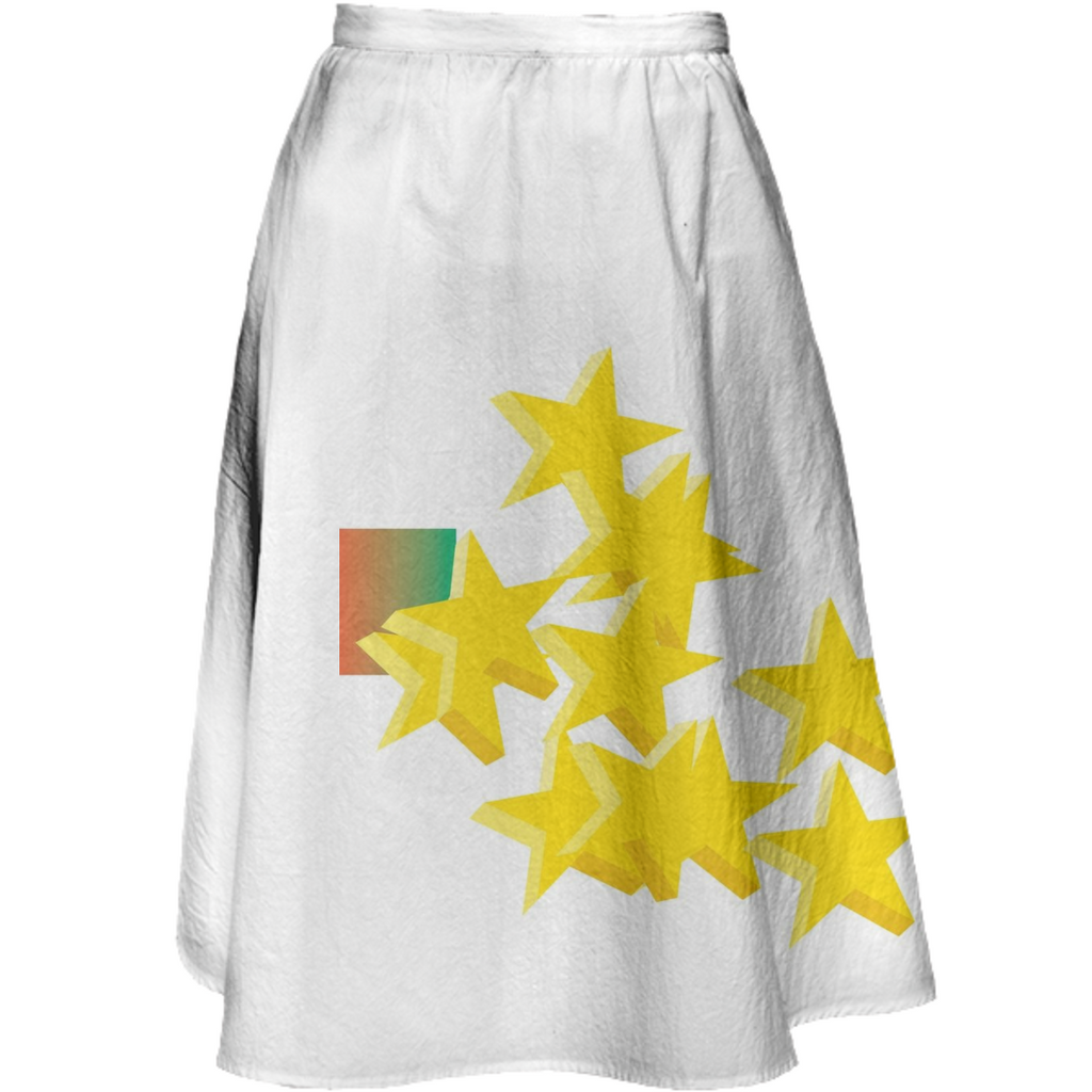 PAOM, Print All Over Me, digital print, design, fashion, style, collaboration, rosewater, Midi Skirt, Midi-Skirt, MidiSkirt, Chunky, Stars, spring summer, unisex, Cotton, Bottoms